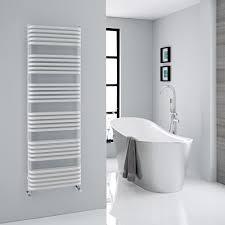 modern white heated towel rack
