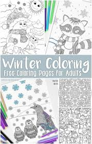 There are also pages to color take some large sheets of colored paper and using glitter and sharpie markers, write holiday messages to. Free Printable Winter Coloring Pages For Adults Easy Peasy And Fun
