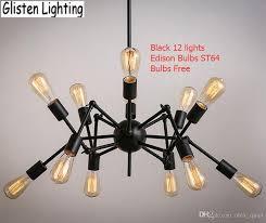 edison style lighting fixtures. Spider Chandelier Vintage Wrought Iron Pendant Lamp Loft American Style Lighting Fixture Edison Bulbs For Free V026 Copper Light Kitchen Island Fixtures L