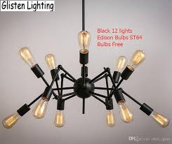 spider chandelier vintage wrought iron pendant lamp loft american style lighting fixture edison bulbs for free v026 copper pendant light kitchen