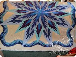 Ruby Blue Quilting Studio: Machine Quilting: Feathered Star Queen & Machine Quilting: Feathered Star Queen Adamdwight.com