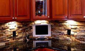 Backsplash Lighting Inspiration Natural Stacked Stone Backsplash Tiles For Kitchens And Bathrooms