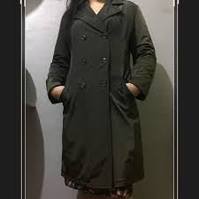 dark brown thick trenchcoat preloved women s fashion clothes on carou
