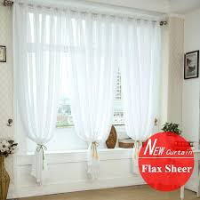 sheer white bedroom curtains. White Curtains Bedroom Quality Window Screening For Wedding Decoration Linen Fabric Voile Curtain Finished Sheer