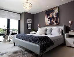 Main Bedroom Bedroom White Chandeliers Gray Matresses Gray Headboards White