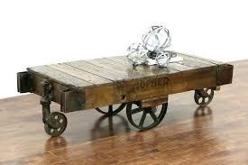 trolley cart coffee table vintage