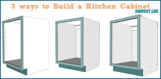 building cabinet boxes. Three Ways To Build Basic Kitchen Cabinet Sawdust Girl Building Boxes With Pocket Screws