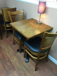 Solid Wood and Cast Iron Bistro Tables - London