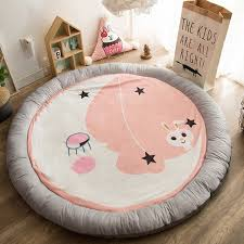 soft cotton development mat for baby play mat cartoon kids rug roundness childrens pad for crawling