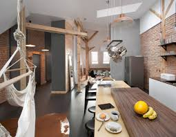 AtticLoftApartmentwithBrickWallsandExposedWoodPoland - Loft apartment brick