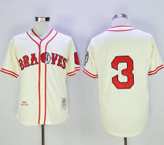Babe Braves 3 Ness Stitched And Cream Baseball Throwback Ruth Jersey Mitchell