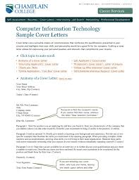 Crafting A Cover Letter Cit Sample Cover Letters