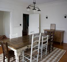 also here s a better photo of the dining room in the daylight with our chairs painted just right