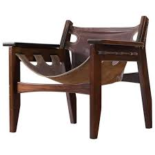 sergio rodrigues kilin lounge chairs in rosewood and leather