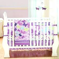 purple erfly crib bedding baby sets and grey