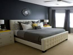 bedroom amazing master bedroom with gray wall paint idea also white faux leather bed amazing