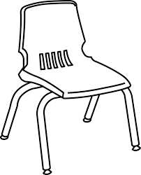 Delighful School Chair Drawing Line Art Free Download And Decor