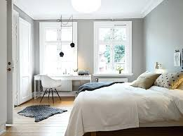 bedroom decor with light grey walls
