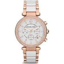 michael kors watches for from tic watches uk ladies and mens mk5774 ladies rose gold white chronograph watch in stock · michael kors
