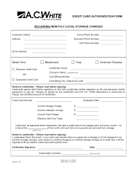 party credit card authorization form sle letter third charge template