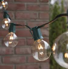 thrifty patio lights commercial clear globe string g e bulbs greenwire patio lights commercial clear globe string