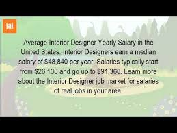 What Is The Average Starting Salary For An Interior Designer YouTube Gorgeous Interior Design Annual Salary