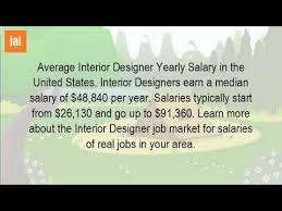 Annual Salary Of An Interior Designer Interesting Inspiration