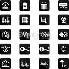 heating cooling icon. heating and cooling icons : vector art icon