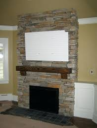 stacked stone fireplace cost of surround diy veneer