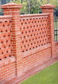 garden fence clay brick