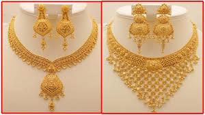 Gold New Model Necklace Design Modern Golden Necklace Modern Innovation Design
