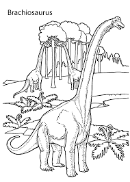 Brachiosaurus Realistic Dinosaurs Coloring Pages For Kids Printable
