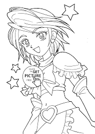 Small Picture Pretty Cure Coloring Pages For Girls Printable Free Coloring Home