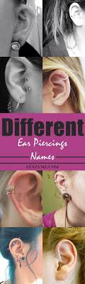 10 Different Ear Piercing Names With Examples Women Fashion
