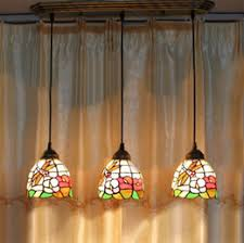 Flower U0026 Dragonfly Stained Glass Pendant Light American Minimalist Tiffany  Lamp Living Room Pendant Light Bar Kitchen Light