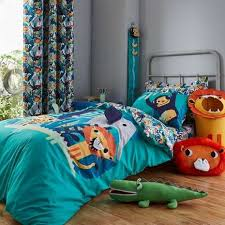 jungle friends duvet cover and