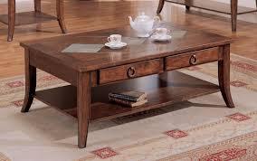 wood slate coffee table