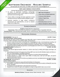 Software Engineering Resume Example Engineering Student Resume Examples Tips Resumes Sample For A