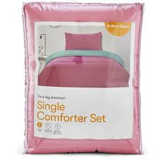 brilliant basics single 2 piece comforter set candy pink