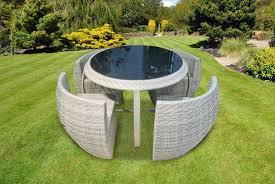 4 seater round rattan furniture set