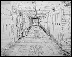 hallway vanishing point. long term assignment1point perspective hallwayvanishing point horizon 2 walls floor ceiling lockers details shading hallway vanishing