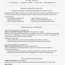 Marketing Experience Resume Market Research Analyst Cover Letter And Resume Examples