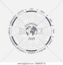 Circle Calendar Template 2020 Calendar Vector Photo Free Trial Bigstock