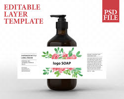 Cosmetic Label Design Template Soap Label Design Cosmetic Label Template Product