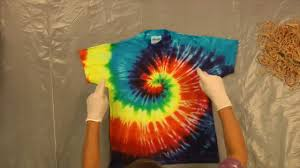 Tie Dye Shirt Swirl Design Jacquard Products Presents Tying And Dyeing The Centered Rainbow Spiral Pt 1