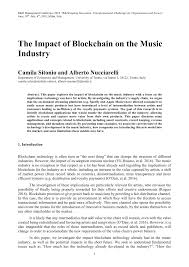 Pdf The Impact Of Blockchain On The Music Industry