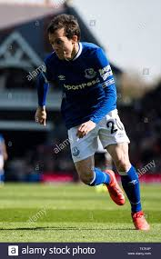 LONDON, ENGLAND - APRIL 13: Bernard of Everton FC during the Premier League  match between Fulham FC and Everton FC at Craven Cottage on April 13, 2019  in London, United Kingdom. (Photo