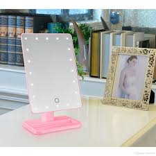 led light up makeup mirror. hot 20 led touch screen makeup mirror professional vanity lights health beauty adjustable countertop 360 rotating tool illuminated light up i