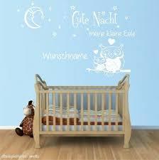Wandtattoo Wunschname Gute Nacht Kleine Eule Sterne Kinderzimmer