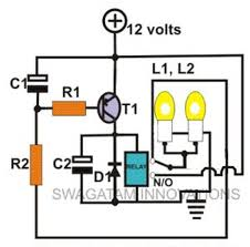 simple relay motorbike flasher circuit